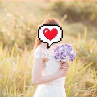 👰🏻仙氣蕾絲婚紗 wedding gown