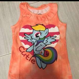 Instock My Little Pony Rainbow Dash TOP Brand New For 2-3yrs Old