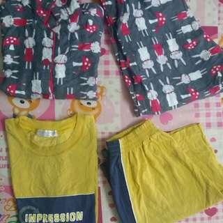 Combo pyajamas and set harian