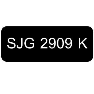 Car Number Plate for Sale: SJG 2909 K
