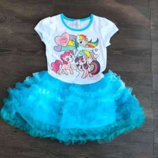Instock My Little Pony Dress Brand New Size avail for 4-7yrs old