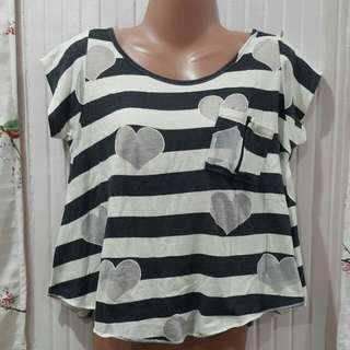 Heart Design Crop Top