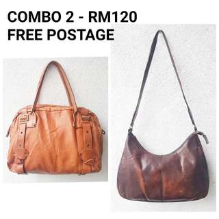COMBO FOR 2 LEATHER BAGS