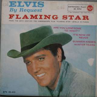 Elvis Presley LP Record Vinyl - By Request Single