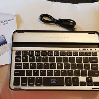 Ipad mini wireless bluetooth keyboard with cradle