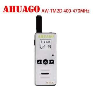 AHUAGO AW-TM2D mini Handheld 128CH Two-way Radio Walkie