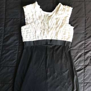 White & Black dress