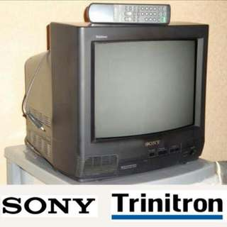 "SONY Black Trinitron 14"" TV – Collector's Item"