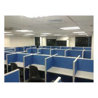 Office Partitions - Full Fabric