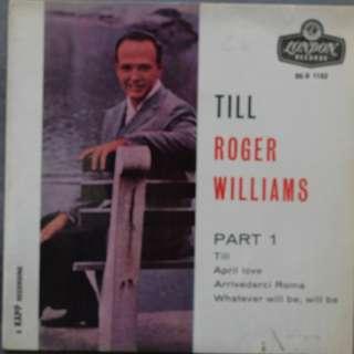 Roger Williams LP Record Vinyl - Till Part 1 Album