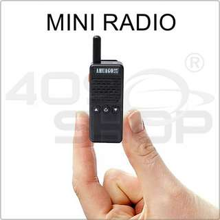 AHUAGO M2 AW-470 Mini 2.5W 16CH mini Handheld Two-way Radio Walkie Talkie FREE EARPIECE