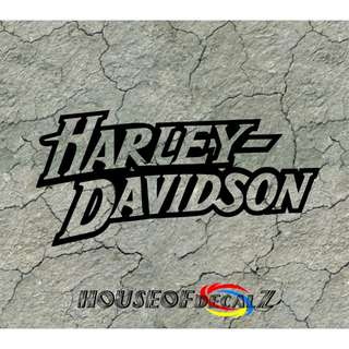 "Custom ""Harley Davidson"" Diecut Vinyl Decal No Background"