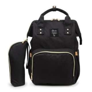 BLACK MOMMY DIAPER BAG
