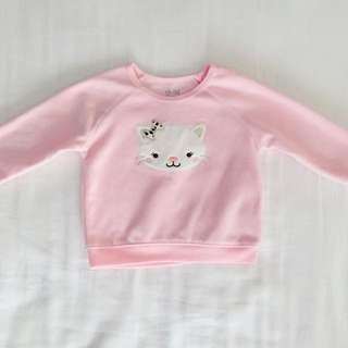 Baby Girl Pink Kitty Sweater