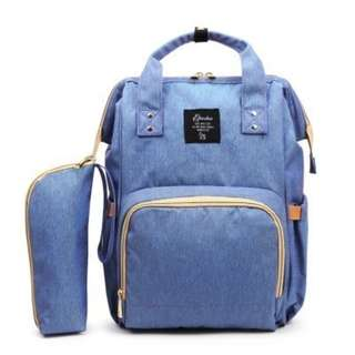 BLUE MOMMY DIAPER BAG
