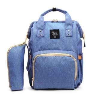 BLUE MOMMY DIAPER BAG