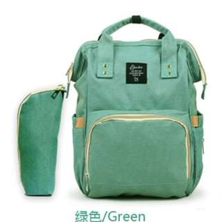 GREEN MOMMY DIAPER BAG