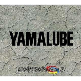 "Custom ""Yamalube"" Diecut Vinyl Decal No Background"