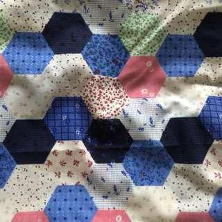 Exclusive cotton fabric. 2 meters left