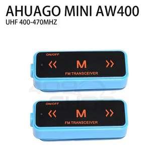 AHUAGO Mini Radio Blue 16 Channel Walkie Talkie UHF 400-470 MHz