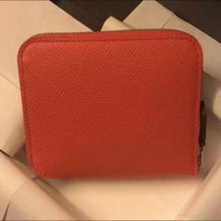 Hermes Silk-in compact wallet