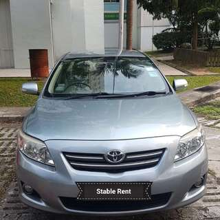 Toyota Altis 1.6 Auto for rent