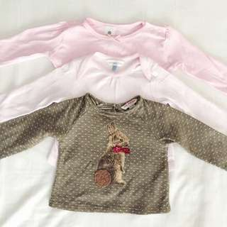 Baby Girl Long Sleeve 6-12 months ( Bundle Promo)