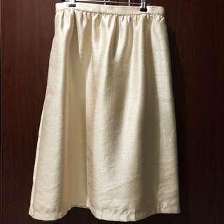 Forever 21 Gold A-Line Skirt