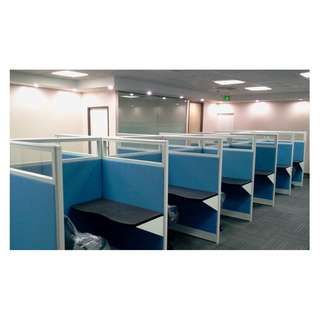 High Panel - Fabric and Glass Partitions - Workstation