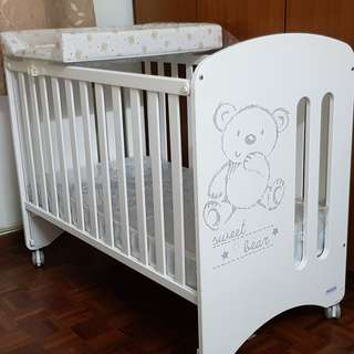 Micuna Sweet Bear Relax Baby Cot