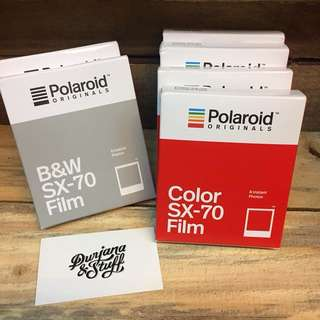 Fresh Polaroid Originals film for SX70 Polaroid cameras