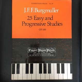 J.F.F. Burgmüller 25 Easy and Progressive Studies (Piano)