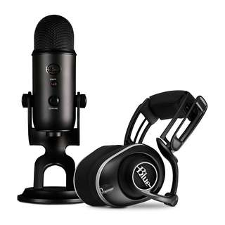 Blue Lola Headphone and Blue Yeti Microphone Gaming Bundle
