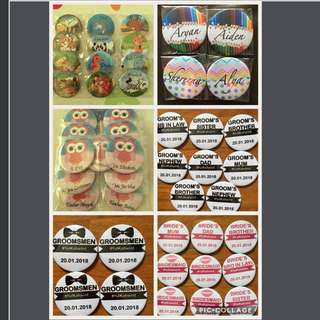 Personalise/Customised Pin Badges 5.8cm