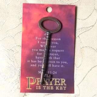 Prayer is the key 鎖匙裝飾