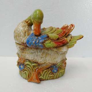 肥鴨盒   瓷