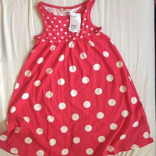 H&M Red Polka Dots Dress *Brand New*