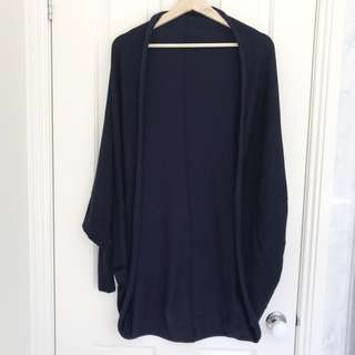 ZARA Oversized Navy Cardigan/Throw