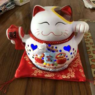 6 inches Musical Fortune cat can sing with light