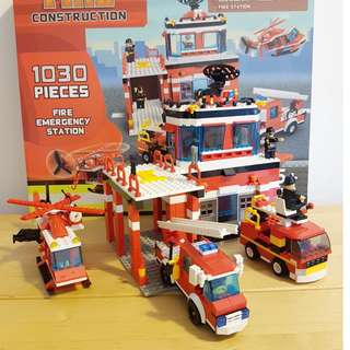 Emergency Fire Station Building Blocks 1030 Pieces +5 Age (Compatible with Lego)