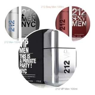 212 Carolina Herrera for Men Perfumes