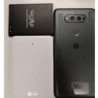 二手98%新 LG V20 黑色 港行貨 +  原廠充電池套裝