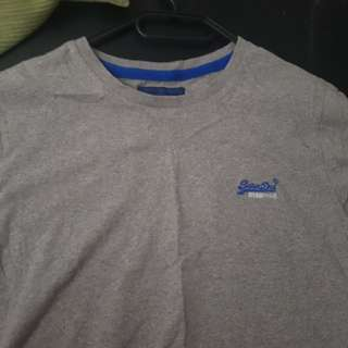 Grey superdry casual tee / tshirt