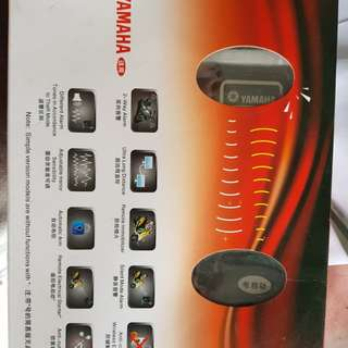 Two way motorcycle security alarm system
