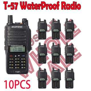 10x BAOFENG T57 WATERPROOF ANTI DUST TWO WAY RADIO (Not include shipping)