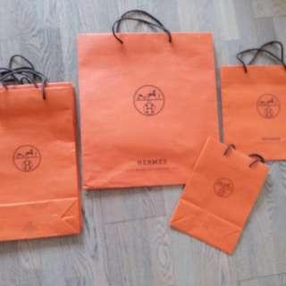名牌紙袋Hermes Stella McCartney Valentino paper bags $90 up