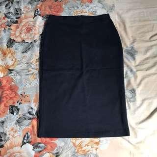 Navy Body Fit Skirt