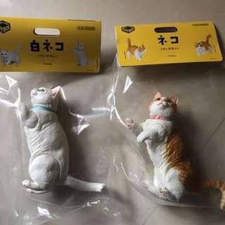 海洋堂 膠貓2隻