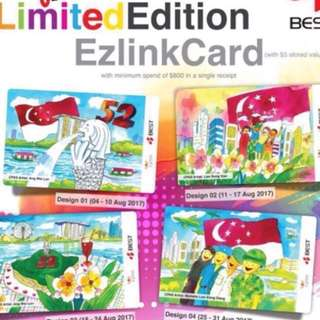 Limited Edition brand new Best Denki NDP Set Of 4 ezlink Cards For $100.