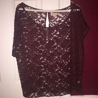 AERIE LACE TOP